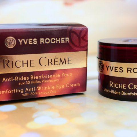 Mijn favoriet van de laatste maand: Comforting Anti-Wrinkle Eye Cream van Yves Rocher (Richer Creme)